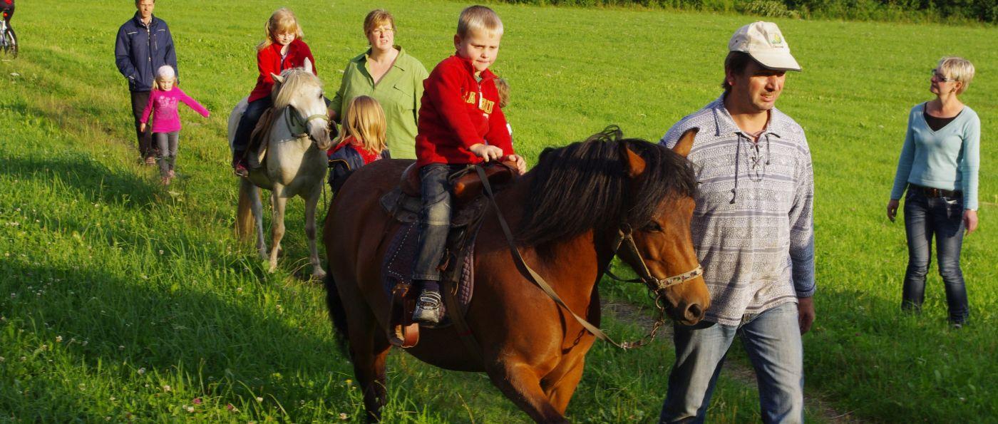 Bayerischer Wald Familienurlaub am Bauernhof bei Bodenmais mit Ponyreiten