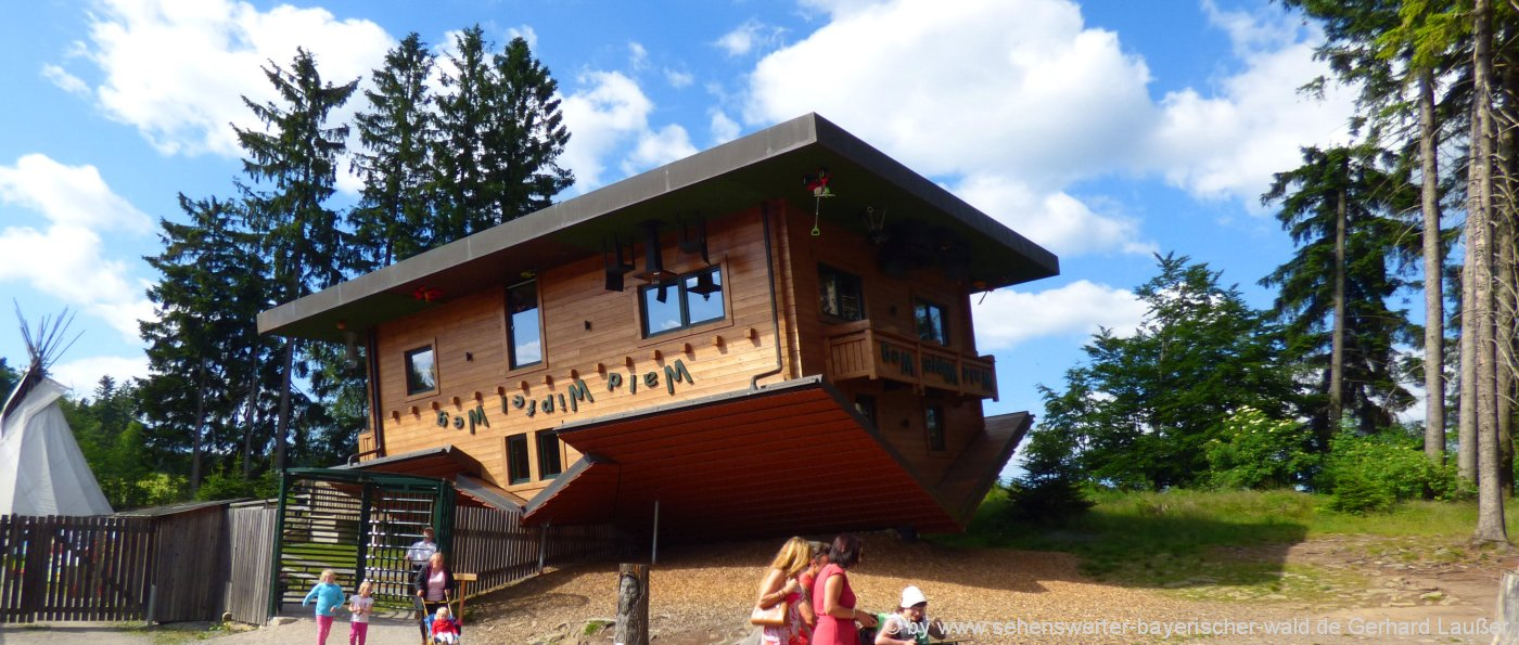 Freizeit Angebote für Familien und Gruppen im Selbstversorgerhaus: das Haus am Kopf beim Baumwipfelpfad in Sankt Englmar Maibrunn